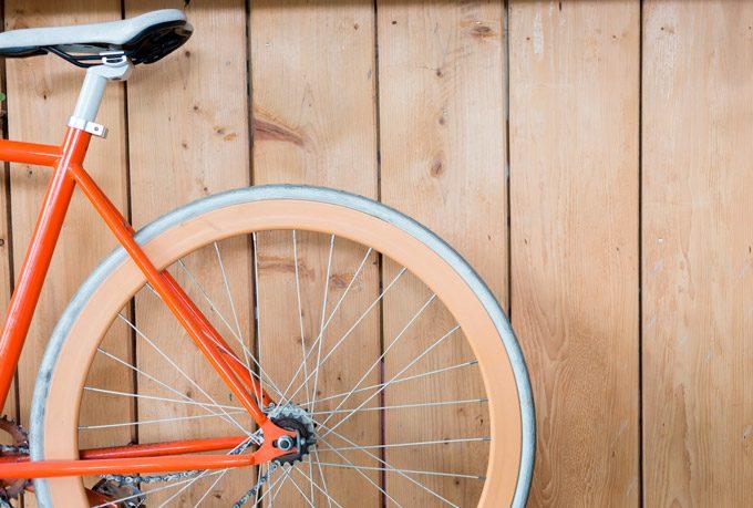 Pulverlakeret-orange-cykelstel